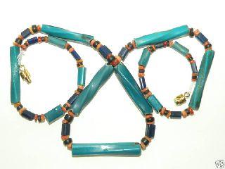 Old Twisted Nueva Cadiz Trade Beads Venezuela photo