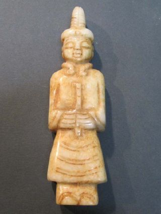 Chinese Jade Statuette 20 Century E4007aa photo