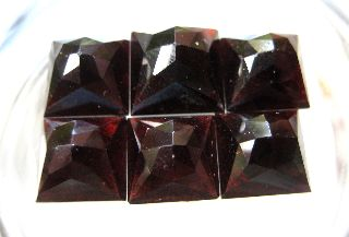 C.  1750 A.  D Georgian Period Prism Cut Deep Red Garnet Jem Stone Collection photo