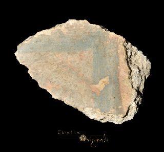 Ancient Roman Polychrome Painted Plaster Fresco Fragment 016431e photo