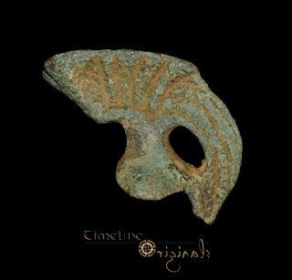 Ancient Roman Bronze Votive Helmet Miniature 023222 photo