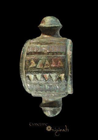 Ancient Roman Bridge Enamelled Plate Brooch Jewellery 024046 photo