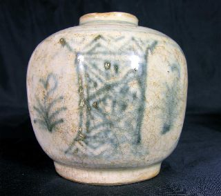 Ancient Vietnamese Glazed Ceramic Medicine Pot C.  1500 A.  D. photo