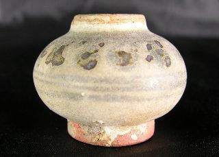 Ancient Thai Sawankhalok Glazed Miniature Pot C.  1400 A.  D. ,  Vgc photo