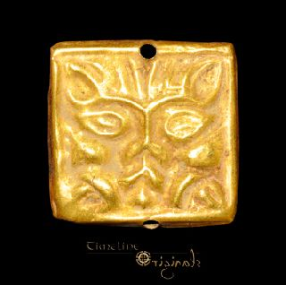 Ancient Scythian Lion Face Gold Horse - Trapping Mount Animal 022567 photo