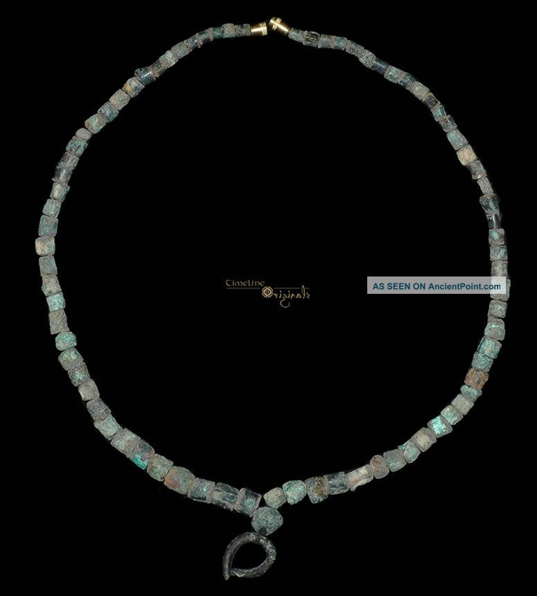 Pre - Achaemenid Parthian Bronze Bead Necklace 017595 Near Eastern photo