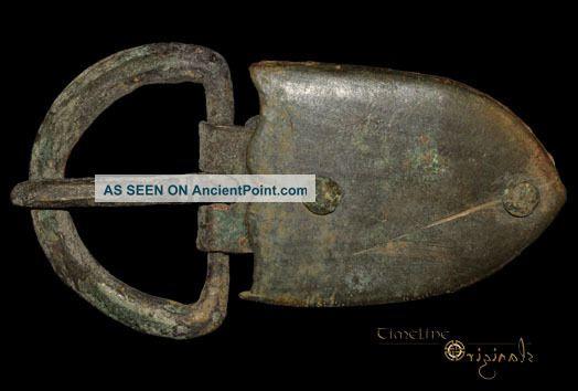 Byzantine Shield Shaped Bronze Buckle Plate 021474 Near Eastern photo