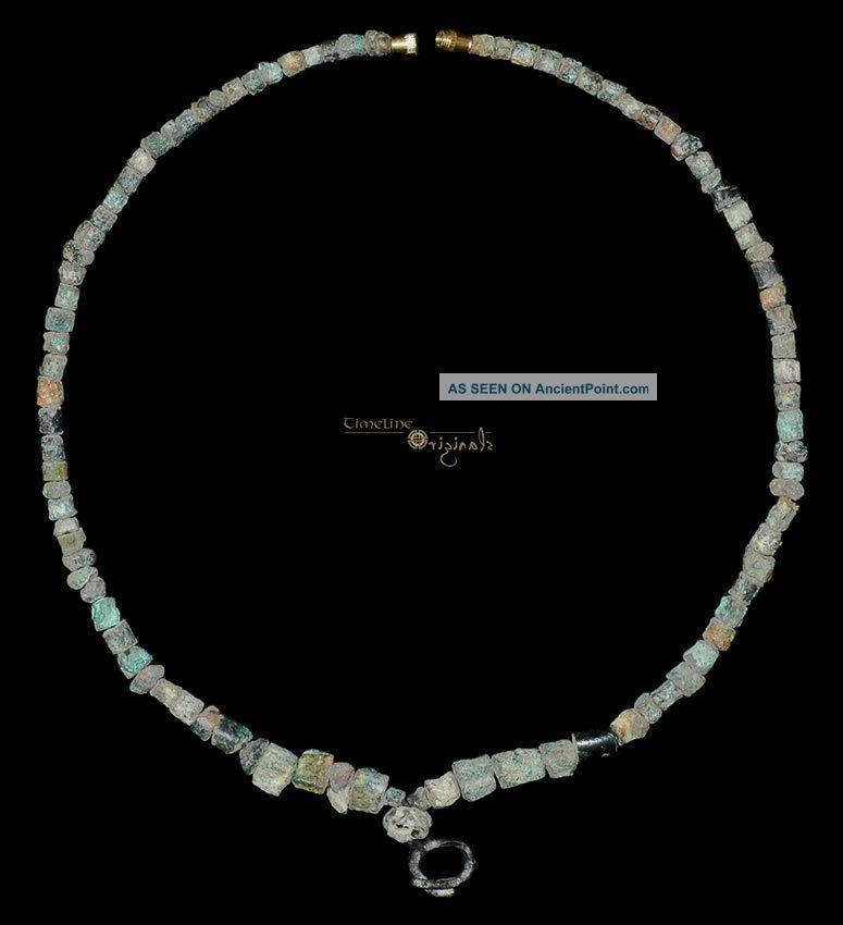 Pre - Achaemenid Parthian Bronze Bead Necklace 017594 Near Eastern photo