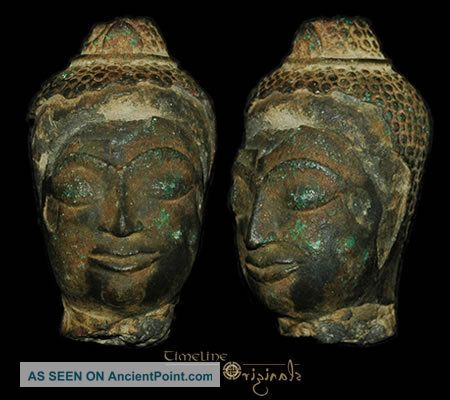 Post Medieval Indian Hindu Divinity Bronze Bust 008310 Near Eastern photo