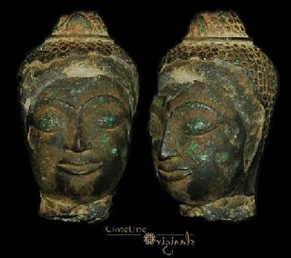 Post Medieval Indian Hindu Divinity Bronze Bust 008310 photo