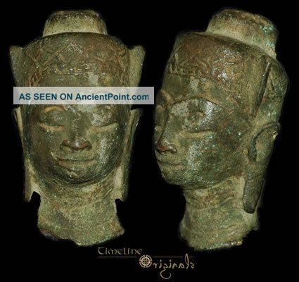 Post Medieval Indian Hindu Divinity Bronze Bust 008311 Near Eastern photo