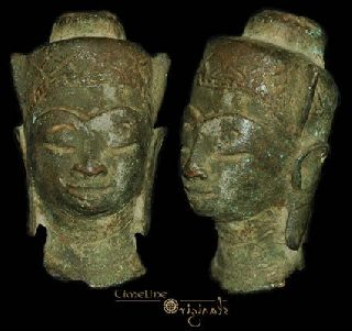 Post Medieval Indian Hindu Divinity Bronze Bust 008311 photo