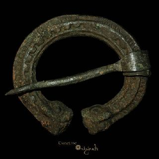 Viking Billeted Band Bronze Penannular Brooch 013606 photo