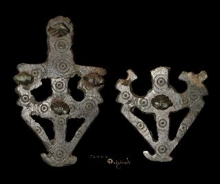 Anglo - Saxon Decorated Openwork Bowl Mount Pair Vessel 022891 photo