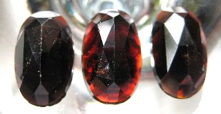 C.  1750 A.  D Georgian Period Deep Red Garnet Cobachon Jem Stone Collection photo