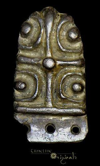 Anglo - Saxon / Viking Pellet Cross Strap End 020290 photo