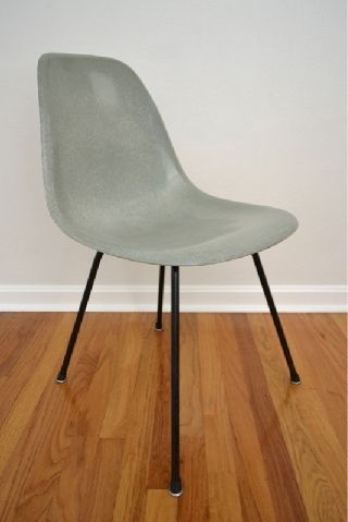 Herman Miller Eames Venice Side Shell X Base Chair Rare Zenith Sea Foam Dsx photo