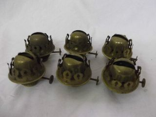 Vintage X 6 Brass Oil Lamp Burners photo