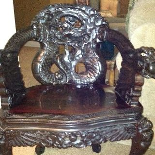 Asian Dragon Chair photo