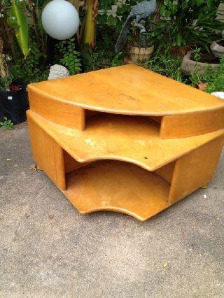 Rare Heywood Wakefield Corner Side End Table C3540 - G Mid - Century Modern Eames Er photo