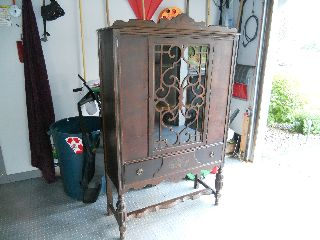 Antique 1920 - 1930 ' S Colonial Revival China Cabinet photo