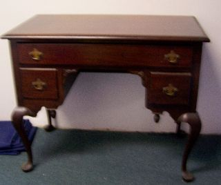 Lovely Charak Furniture Co Mahogany Desk Queen Anne Style C 1931 photo