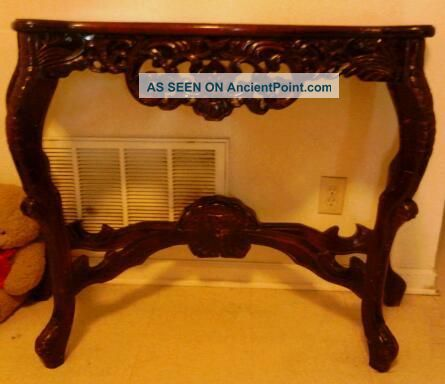 A Antique (large) Mahogany Marbletop Console Table 1900-1950 photo