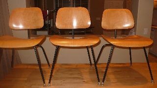 Eames Evans Products Ash Dining Chairs Herman Miller Dcm photo