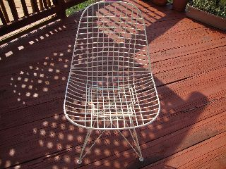 Mid Century Eames Dkr Wire Eiffel Chair Herman Miller photo