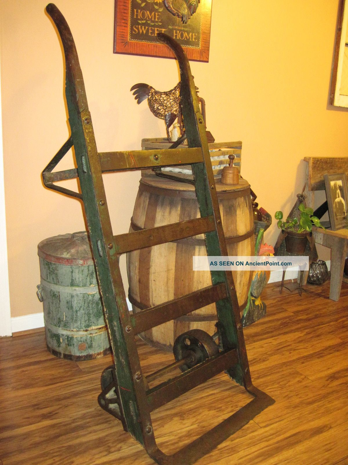 Early 1900 ' S Antique Railroad/feedmill Cart (coffee Table) 1900-1950 photo