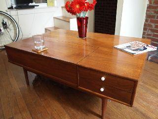 Kipp Stewart Mid Century Modern Walnut Coffee Table Eames Danish Drexel photo
