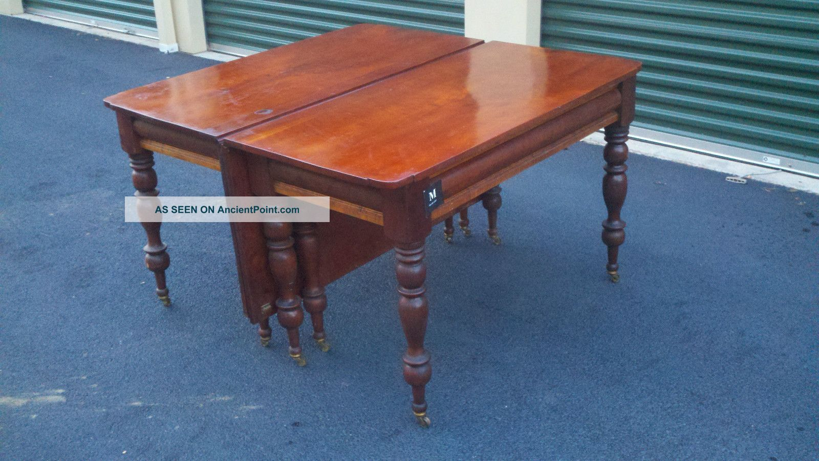 Early American Curley Maple And Black Cherry Banquet End Tables 1800-1899 photo