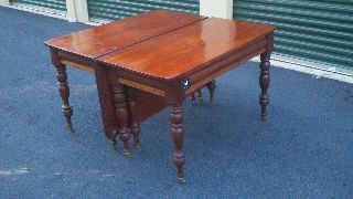 Early American Curley Maple And Black Cherry Banquet End Tables photo