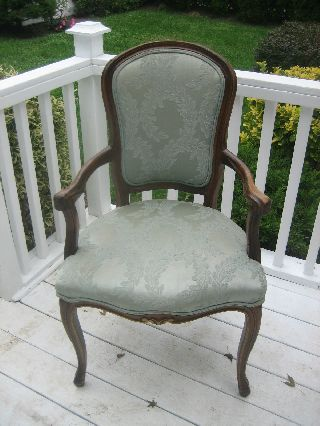 Stunning French Provencal Blue Fabric Chair photo