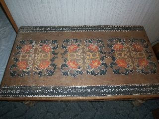 Vintage Decorative Arts Philippine Wood Table Estate Table photo