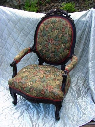 American Victorian Carved Rosewood Gents Chair Circa 1860 In Nh photo