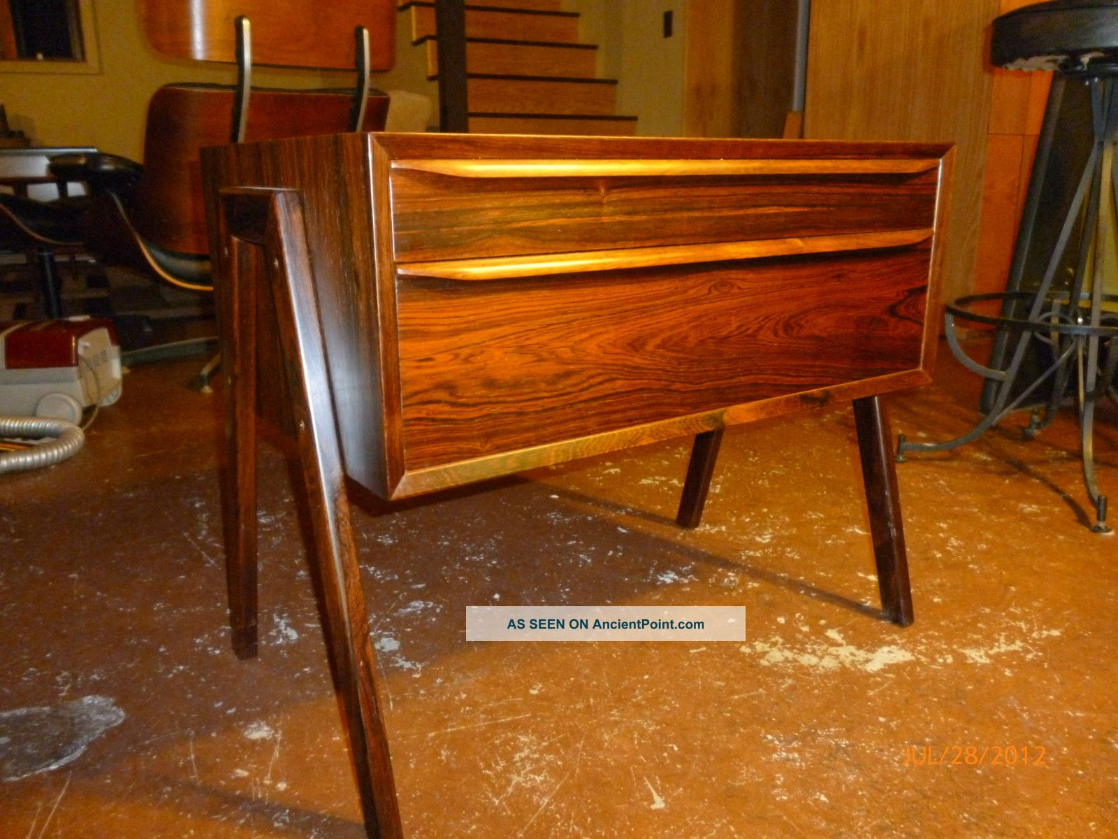 Mid Century Danish Modern Rosewood Side Table / Entry Chest Post-1950 photo