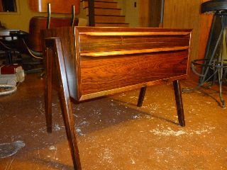 Mid Century Danish Modern Rosewood Side Table / Entry Chest photo