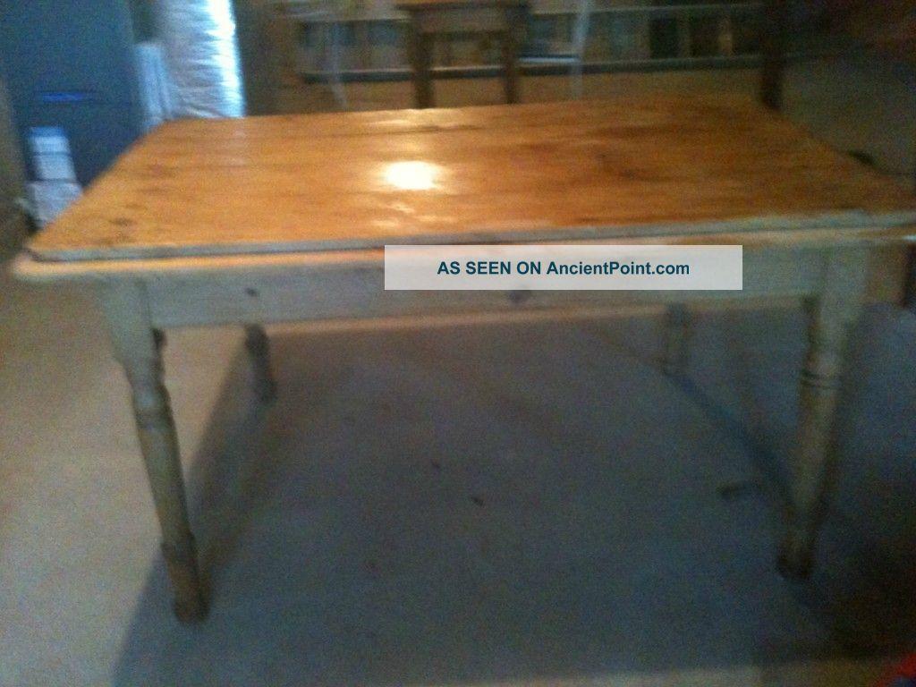 Antique Irish Pine Table 1800-1899 photo