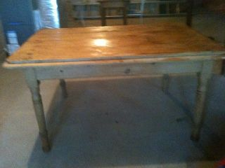 Antique Irish Pine Table photo
