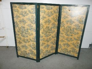 Antique Victorian Folding Privacy Screen photo