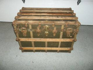 Antique Steamer Trunk (condition) photo