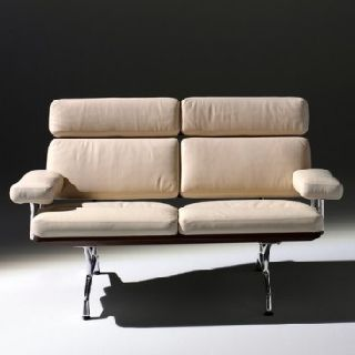Herman Miller Eames 2 - Seat Leather Sofa photo