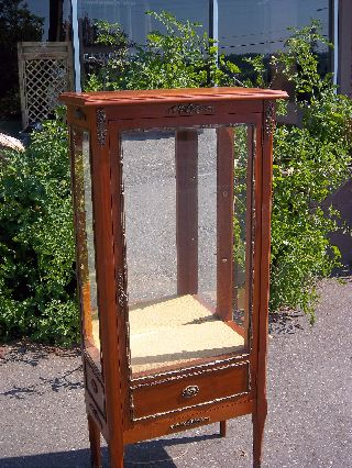 1930 ' S French Curio Cabinet With Brass Ormulu photo
