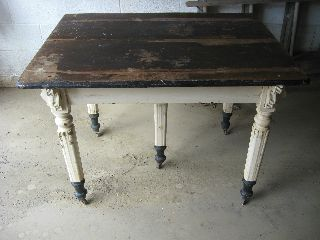 Antique Five 5 Legged Kitchen Table Vintage Farm House Cabin Harrisburg Pa photo