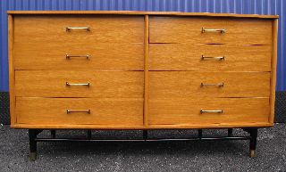 Drexel Mid Century Long Dresser Danish Modern photo
