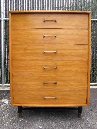 Drexel Mid Century Tall Dresser Hiboy Danish Modern photo