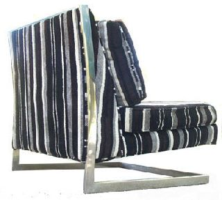 Good Milo Baughman Cantilevered Slipper Lounge Chair Orig Fabric Nr photo