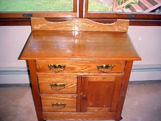 Antique Golden Oak Bathroom,  Buffet,  Tv,  Microwave Cabinet,  Nr photo