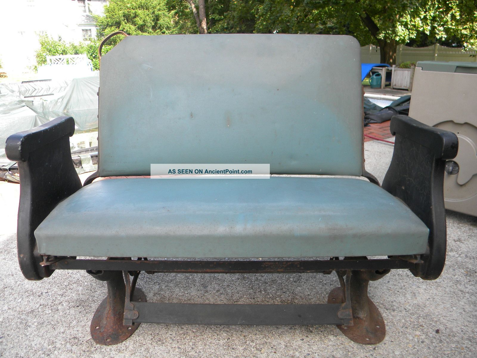 Marvelous photograph of  Pullman Passenger Railroad Car Reversible Bench Seat In Excellent Cond with #4D5D2C color and 1600x1200 pixels
